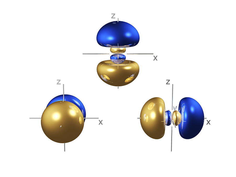 3p Photograph - 3p Electron Orbitals by Dr Mark J. Winter