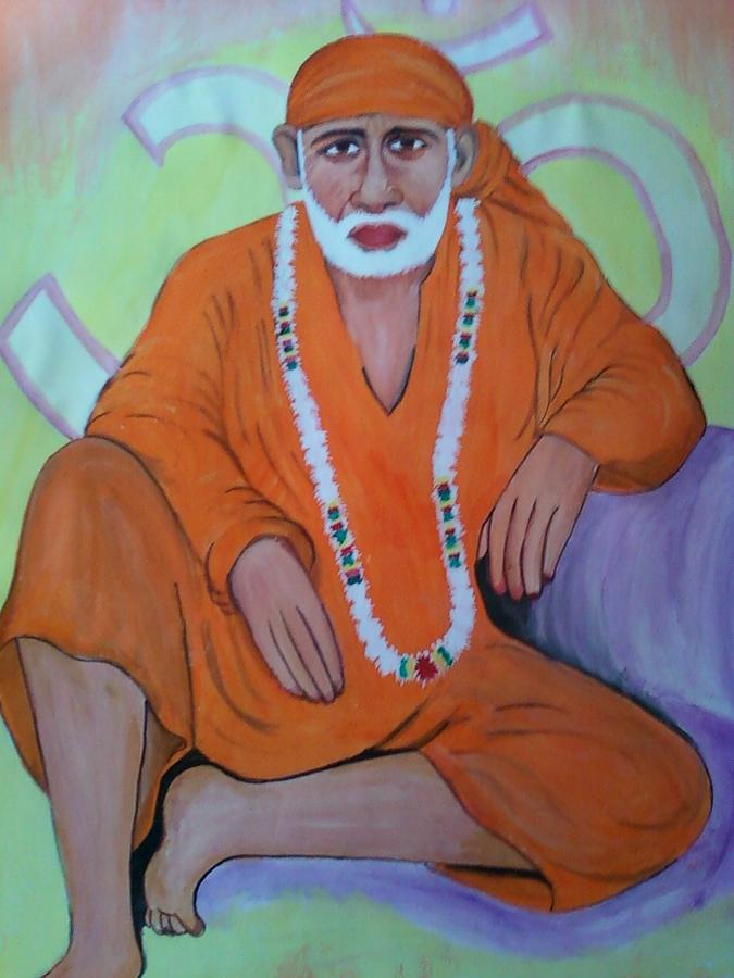 Shirdi Ke Sai Baba Painting - Acrylic Painting by Mohit Joshi