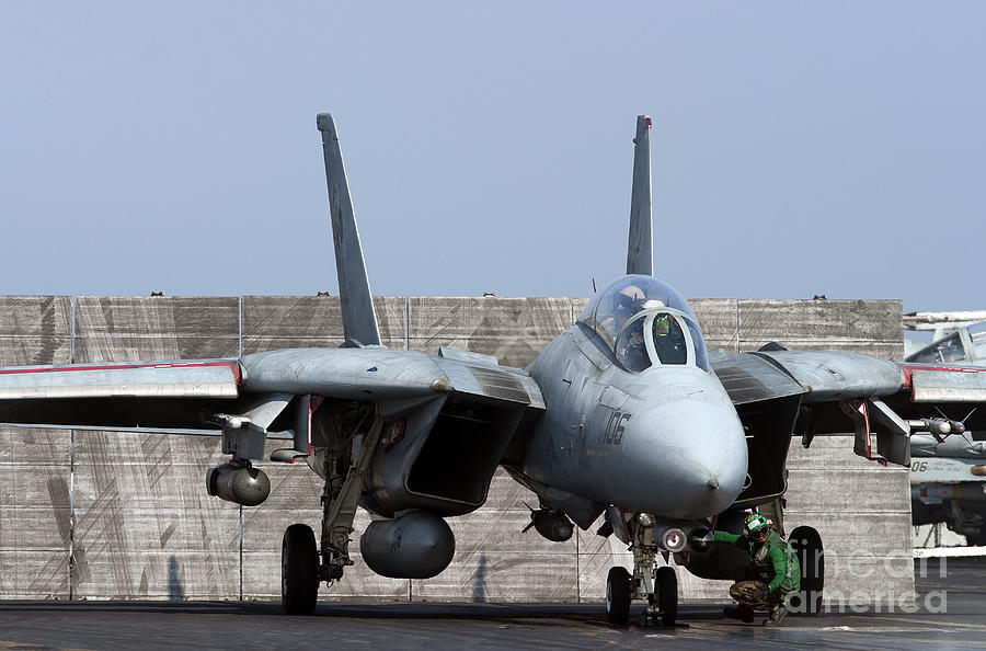 An F-14d Tomcat In Launch Position Photograph