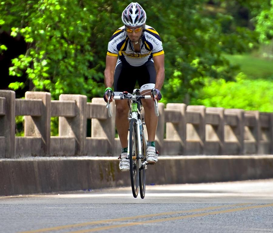 Man Photograph - Bicycle Ride Across Georgia  by Susan Leggett