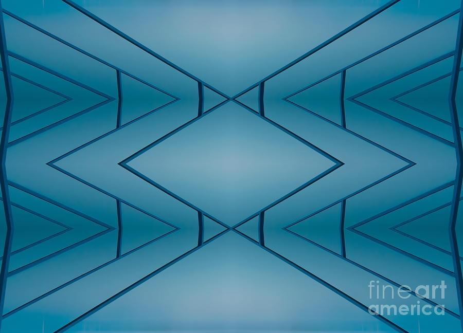 Nature Digital Art - Blue Reflection by Odon Czintos