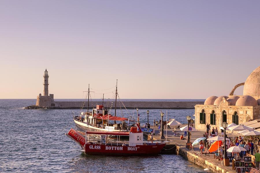 Lighthouse Photograph - Chania - Crete 4 by Joana Kruse