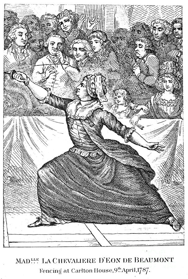 1787 Photograph - Charles Deon De Beaumont by Granger