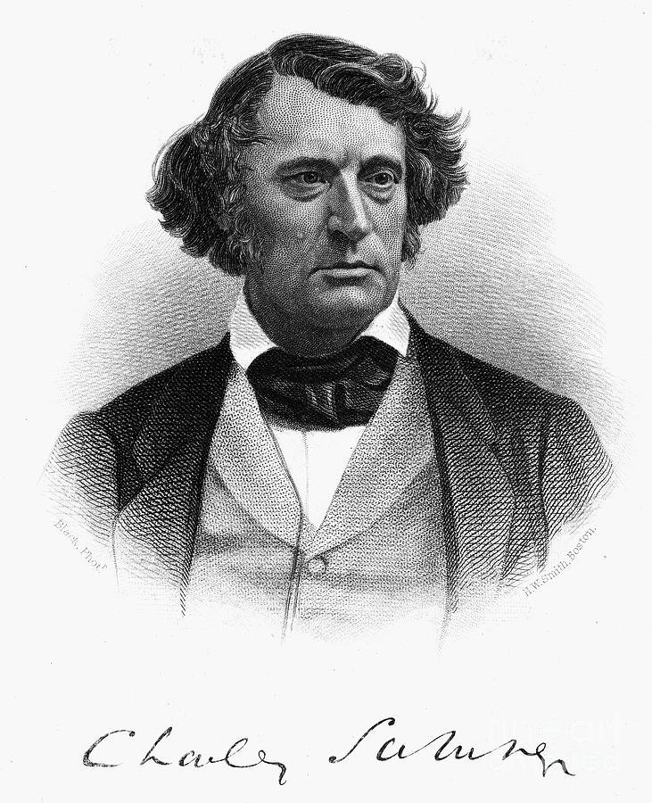1868 Photograph - Charles Sumner (1811-1874) by Granger