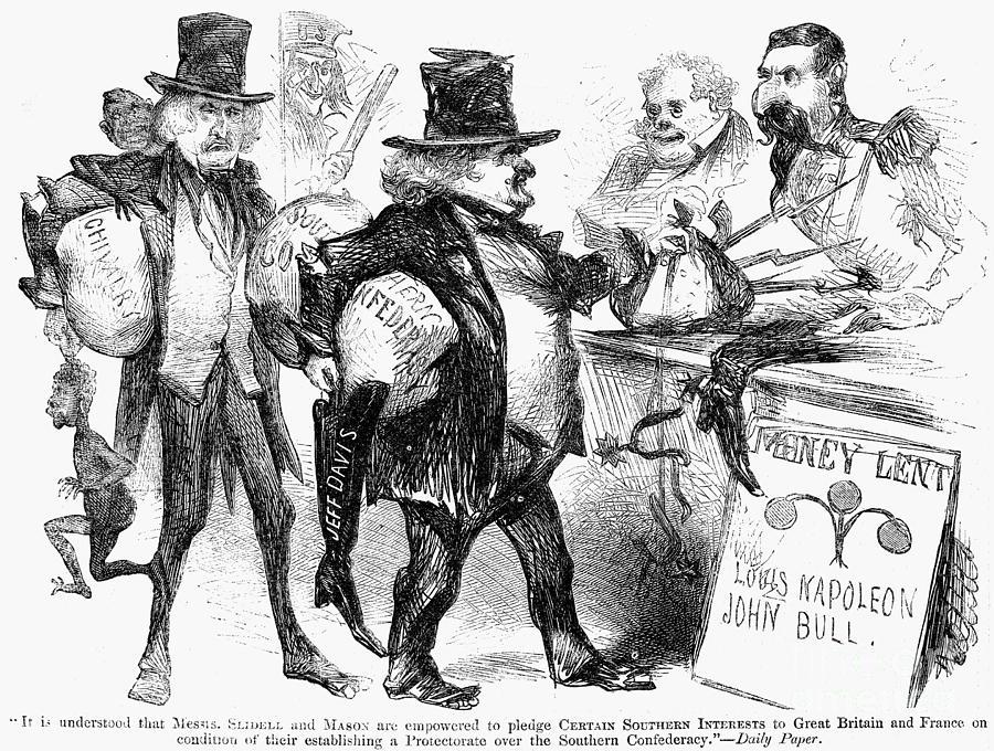 1861 Photograph - Civil War: Cartoon, 1861 by Granger