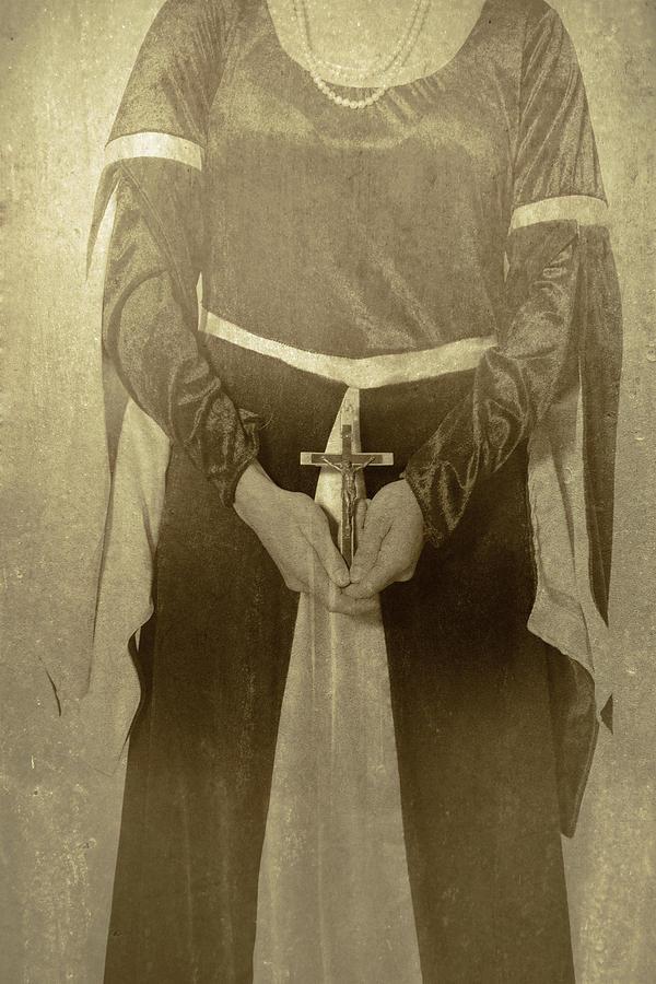 Female Photograph - Crucifix by Joana Kruse