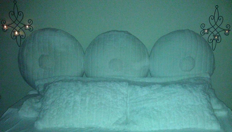Functional Relief Sculpture - Cushioned_headboard_001 by Andrew Houck