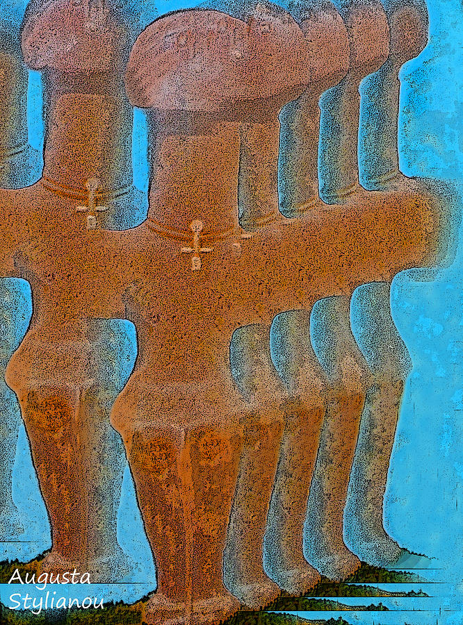 Cyprus Painting - Cyprus Idol Of Pomos by Augusta Stylianou