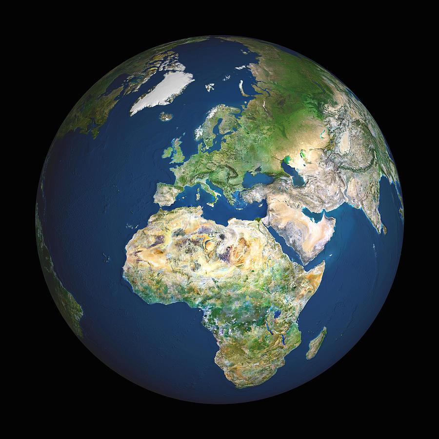 Eurasia Photograph - Earth by Planetobserver