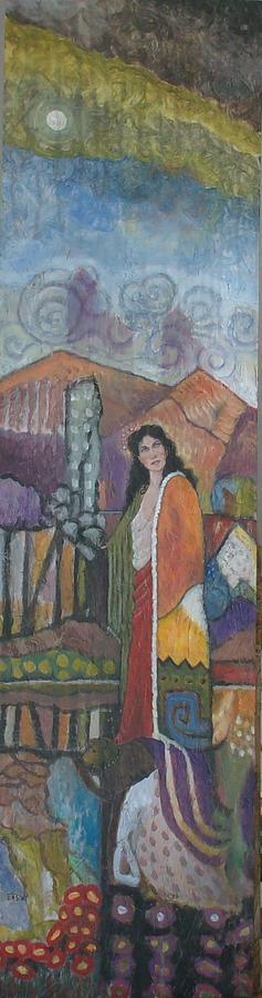 Females Painting - Egeria by Dennis Bruce Spencer