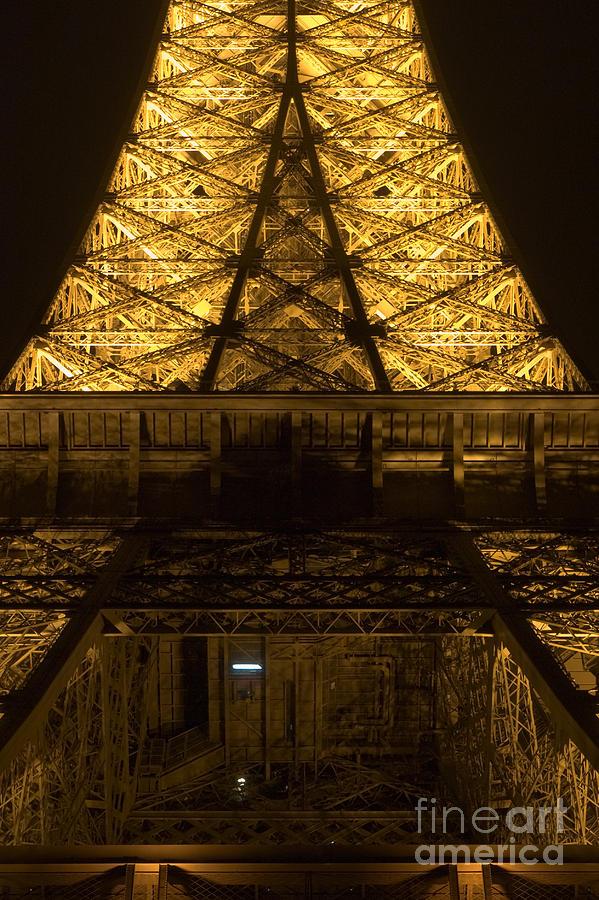 Eiffel tower by night detail by Fabrizio Ruggeri