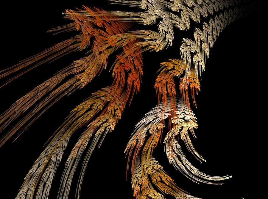 Fractal Flame Digital Art - Flowers by Michele Caporaso