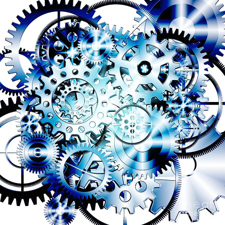 Background Photograph - Gears Wheels Design  by Setsiri Silapasuwanchai