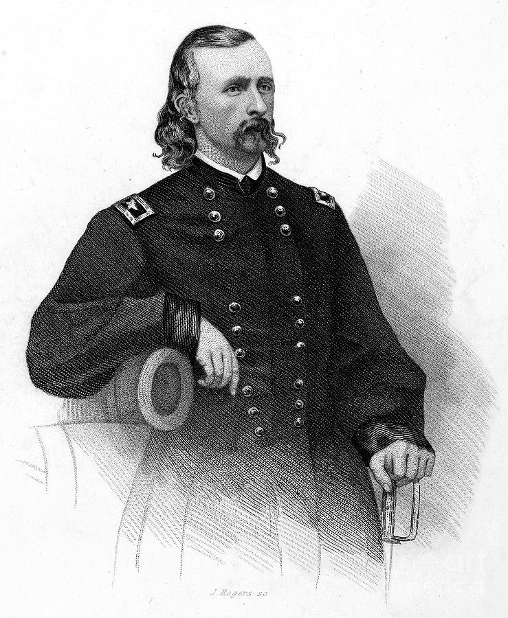 19th Century Photograph - George Custer (1839-1876) by Granger