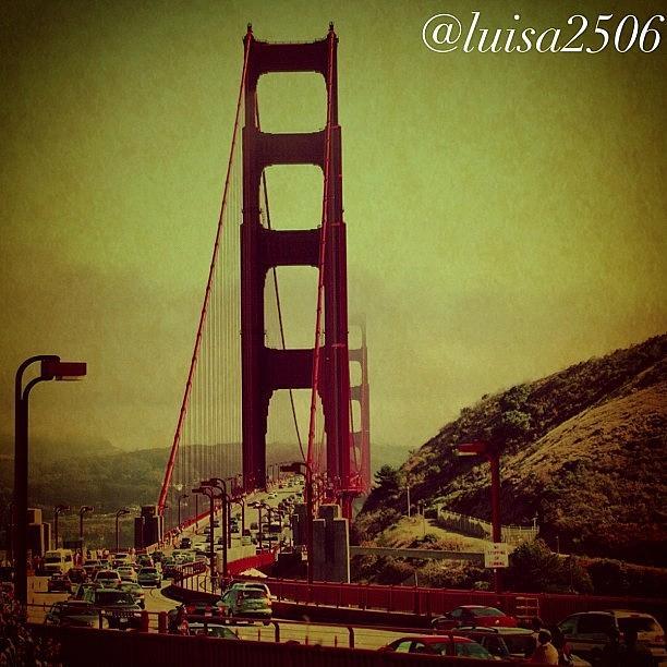 Bridge Photograph - Golden Gate by Luisa Azzolini