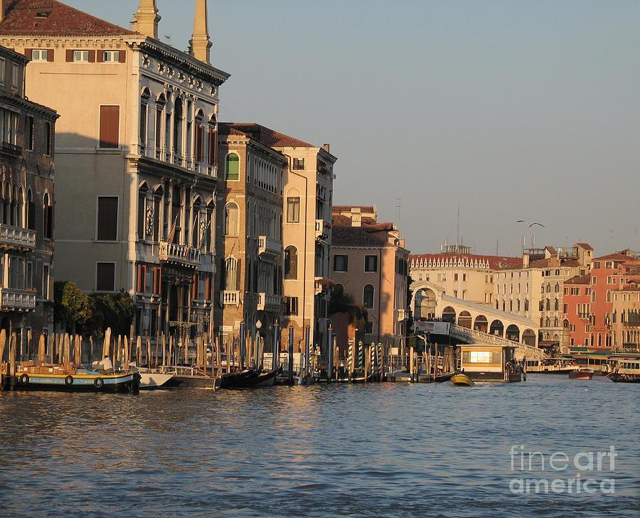 Grand Canal Pyrography - Grand Canal. Venice by Bernard Jaubert