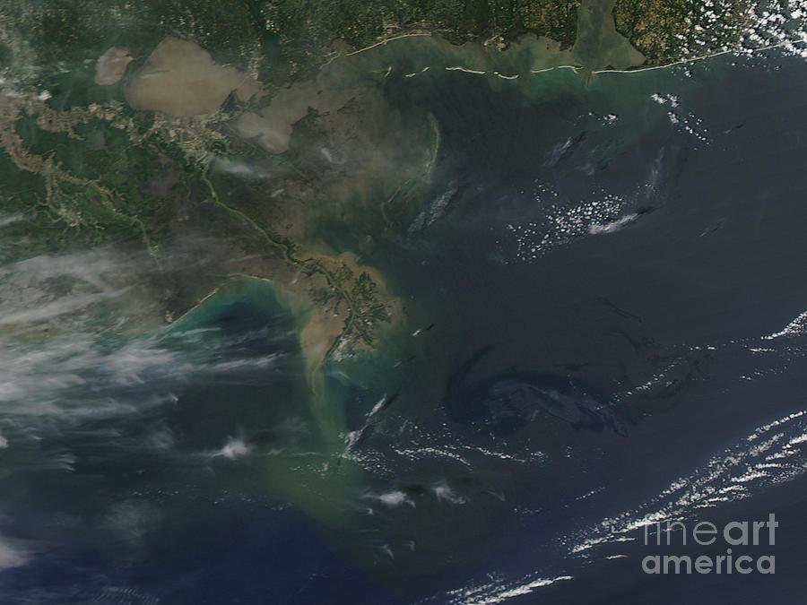 Oil Spill Photograph - Gulf Oil Spill, April 2010 by Nasa