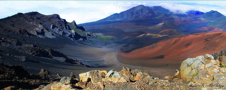 Haleakala Crater in Maui Hawaii by Sheila Kay McIntyre