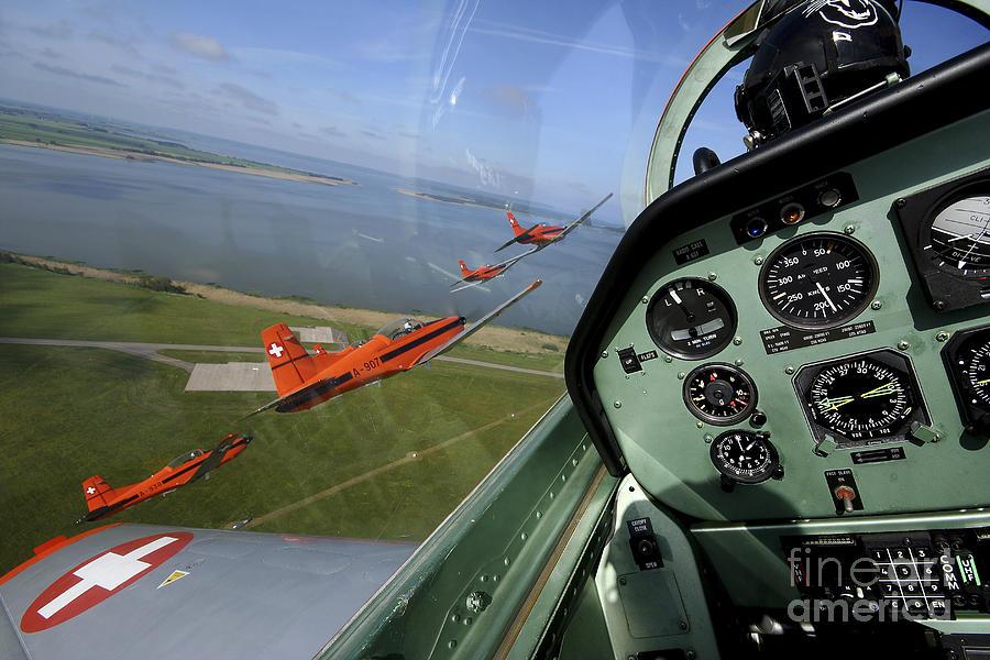 Transportation Photograph - Inside The Pilatus Pc-7 Turboprop by Daniel Karlsson