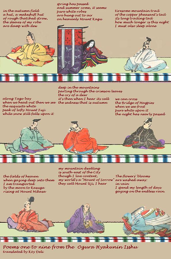 Japan Mixed Media - Japanese Poems by Steve Mangan