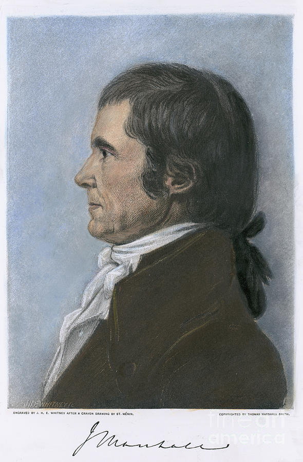 1808 Photograph - John Marshall (1755-1835) by Granger