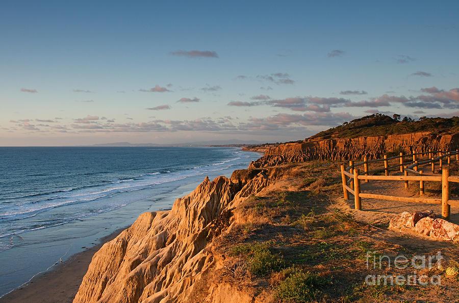 La Jolla California Sunset Coast At Torrey Pines State