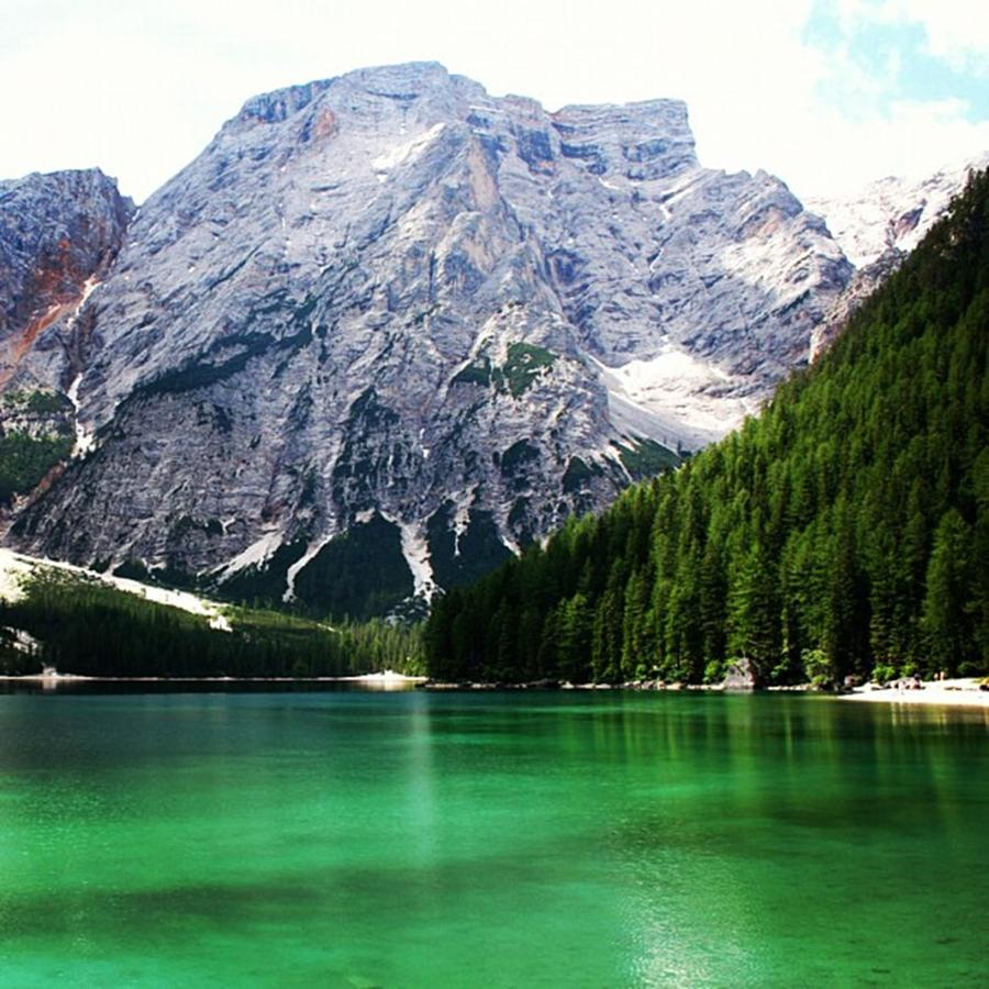 Dolomites Photograph - Lago Di Braies by Luisa Azzolini