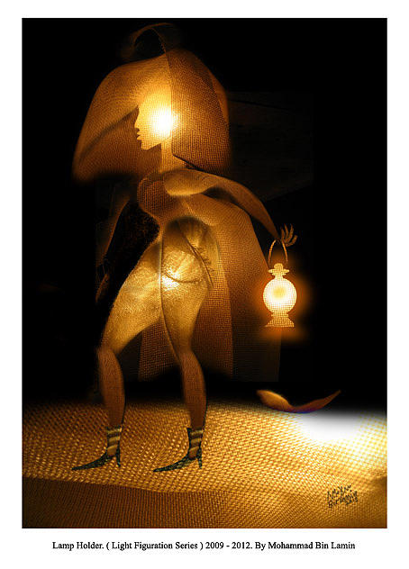 Artists Mixed Media - Light Figuration Series by MBL Binlamin