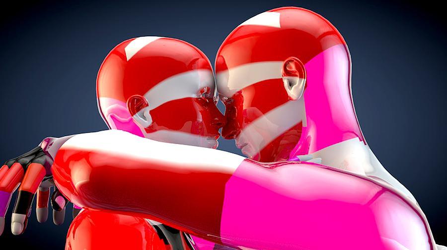 Surreal Digital Art - Lovers by Bogdan Floridana Oana