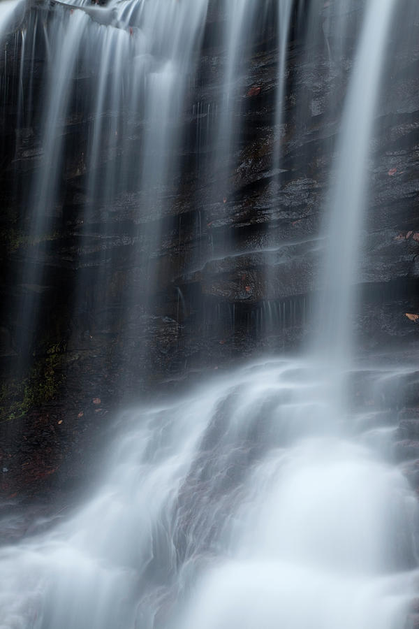Rapid Photograph - Misty Canyon Waterfall by John Stephens