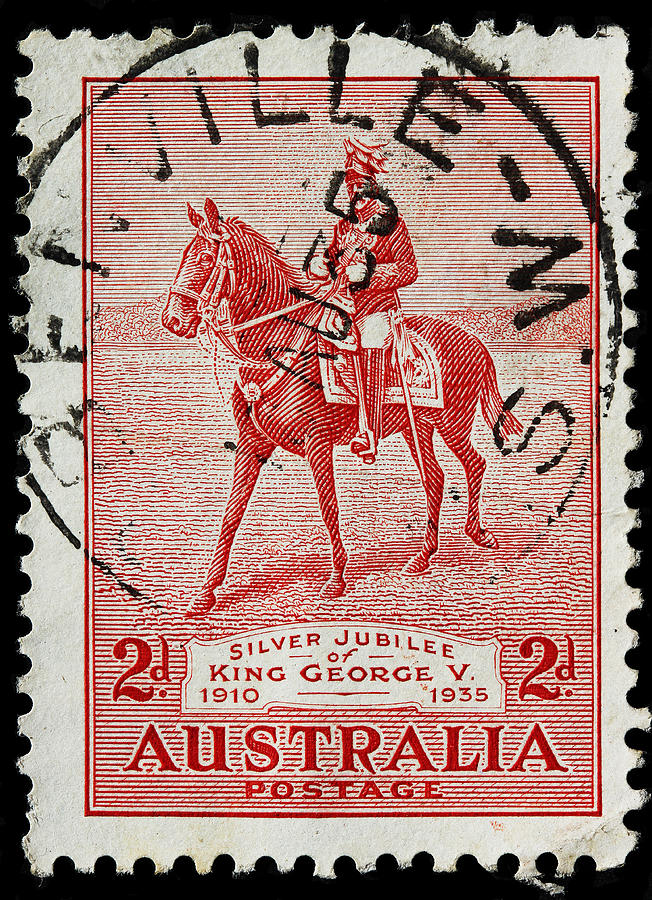 old Australian postage stamp Photograph by James Hill