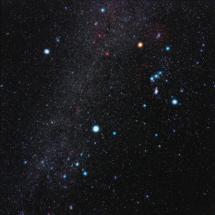 Winter Triangle Photograph - Orion Constellation by Eckhard Slawik