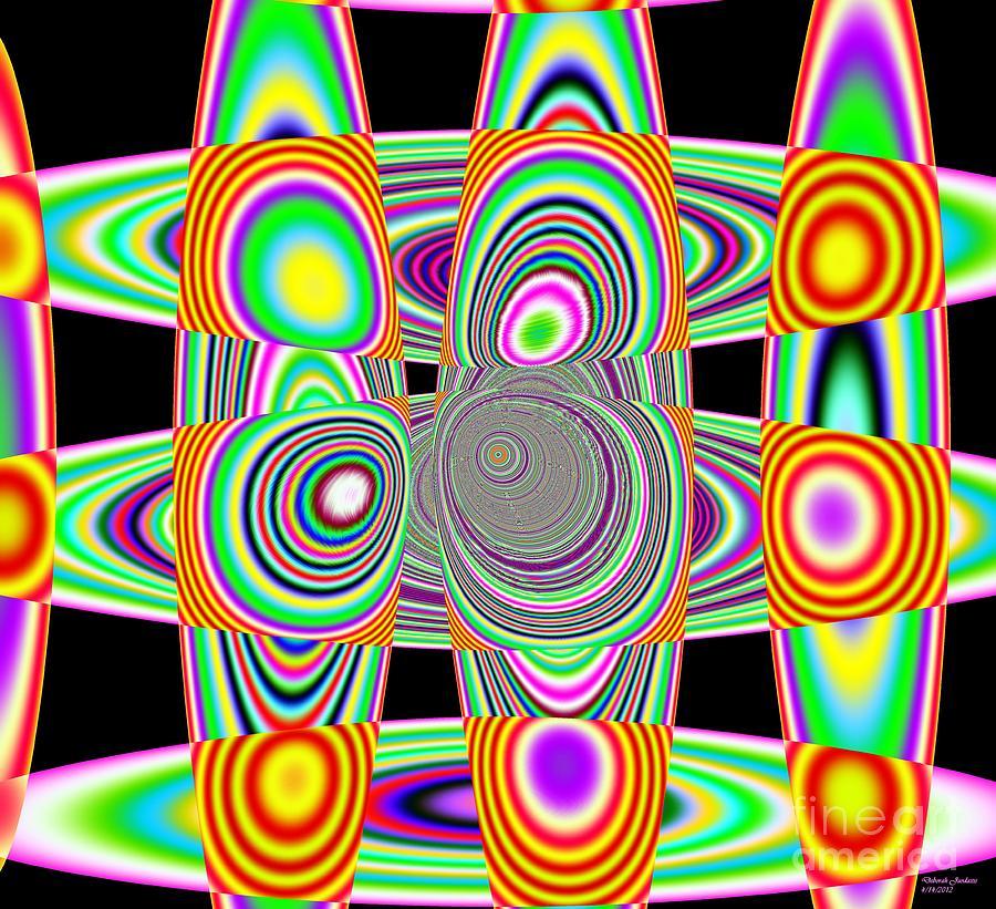 Solar System Mixed Media - Planetary Rings Maze by Deborah Juodaitis