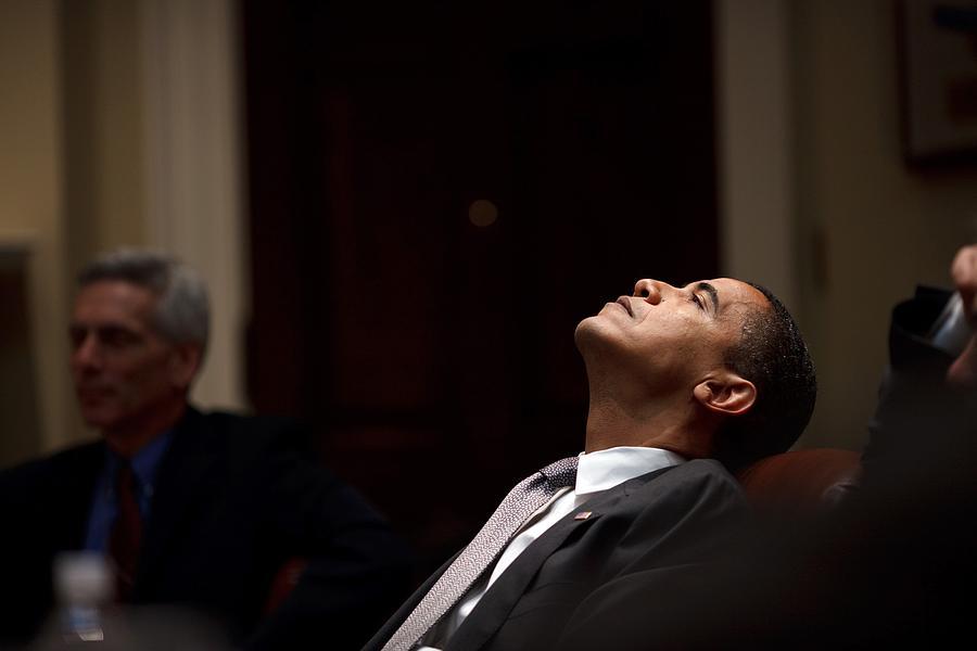 History Photograph - President Barack Obama Looks by Everett