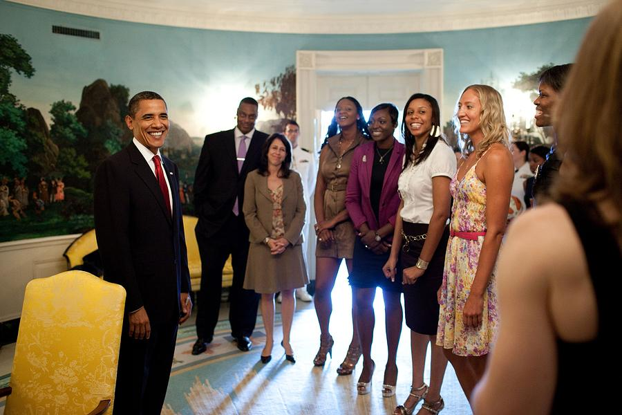 History Photograph - President Barack Obama Meets by Everett