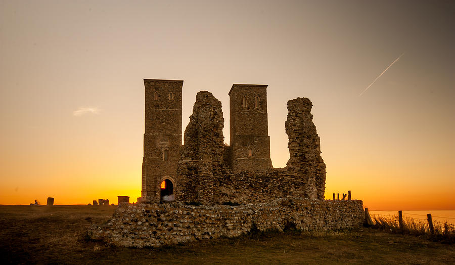 Church Photograph - Reculver Towers by Dawn OConnor