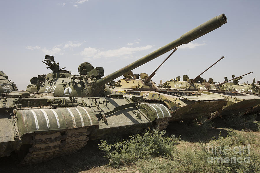 Tracked Vehicles Photograph - Russian T-54 And T-55 Main Battle Tanks by Terry Moore