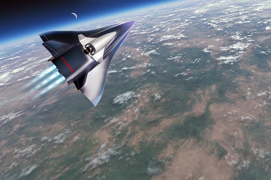 Horus Photograph - Saenger-horus Spaceplane, Artwork by Detlev Van Ravenswaay