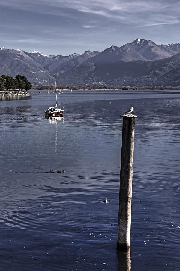 Locarno Photograph - Sailing Boat by Joana Kruse