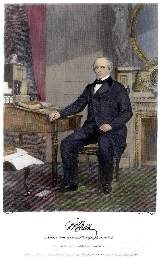 1863 Photograph - Salmon Portland Chase by Granger
