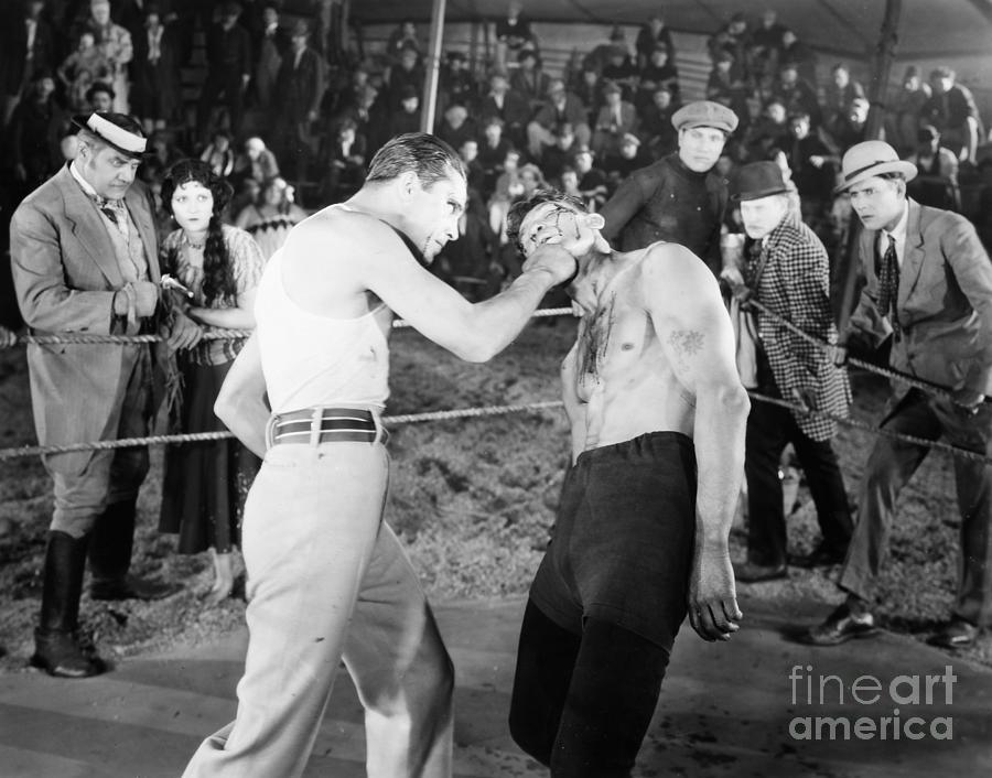 1920s Photograph - Silent Film Still: Boxing by Granger