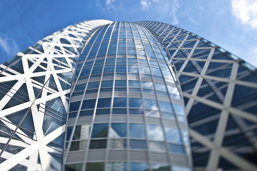 Colour Photograph - Skyscrapers In Tokyos Shinjuku by Eddy Joaquim
