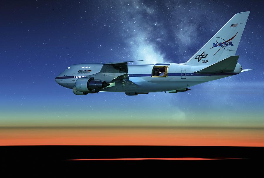 Sofia Photograph - Sofia Airborne Observatory In Flight by Detlev Van Ravenswaay