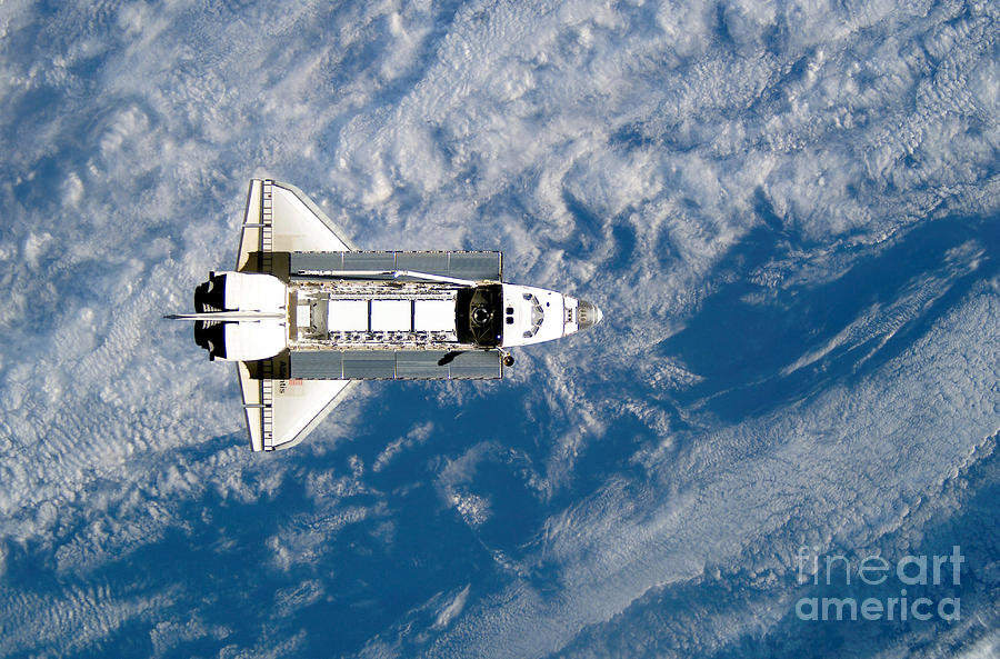 Color Image Photograph - Space Shuttle Atlantis by Stocktrek Images