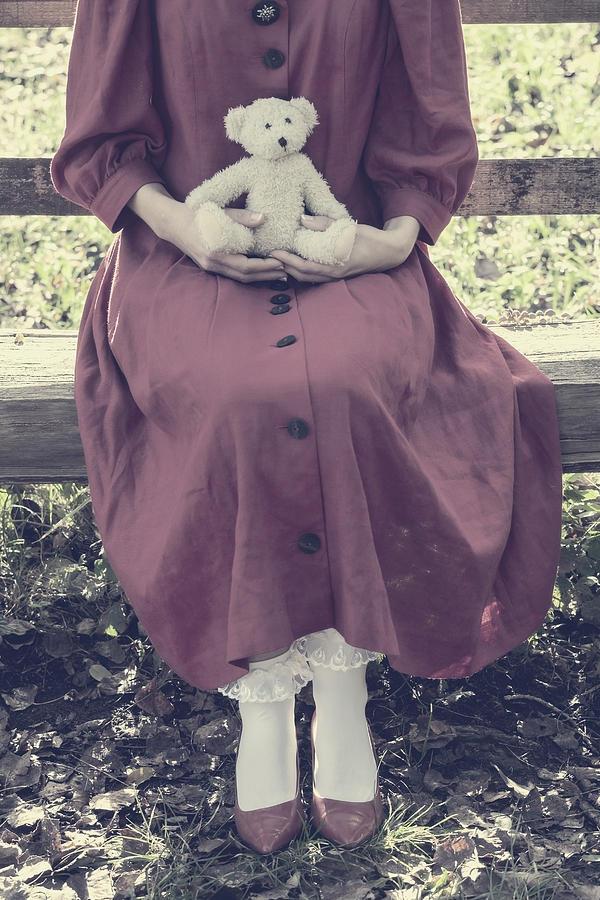 Woman Photograph - Teddy Bear by Joana Kruse