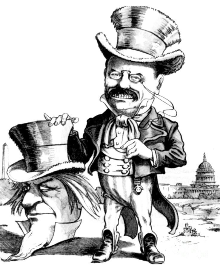 Teddy Roosevelt Cartoon Photograph By Granger