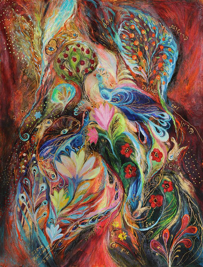 Original Painting - The Magic Garden by Elena Kotliarker