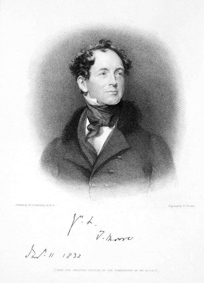 1833 Photograph - Thomas Moore (1779-1852) by Granger