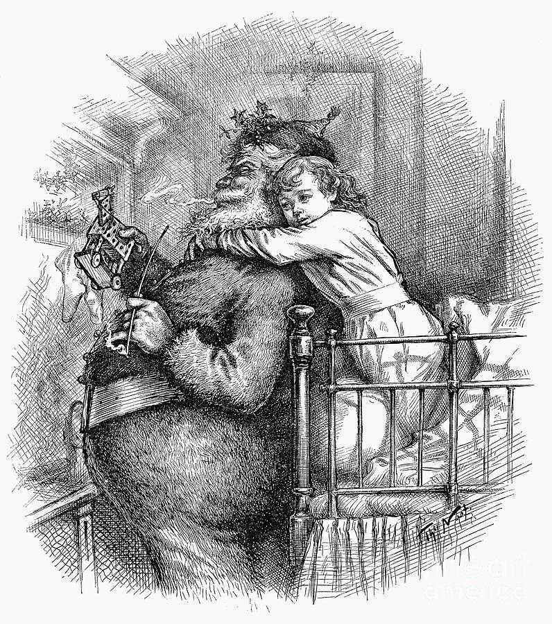 1881 Photograph - Thomas Nast: Santa Claus by Granger