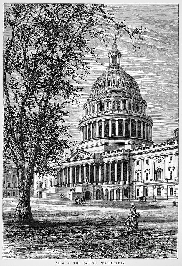 1876 Photograph - U.s. Capitol by Granger